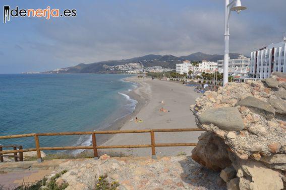 Playa El Chucho desde el mirador de La Torrecilla