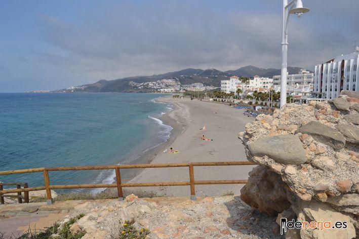 Otra de las playas de Nerja, El Chucho