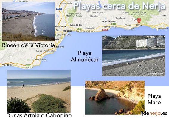 Mejores playas cerca de Nerja
