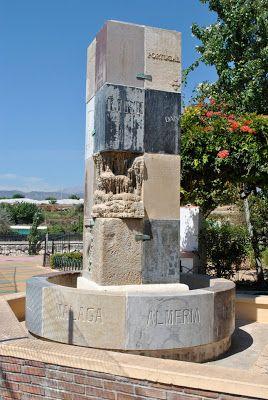 La Fuente de Europa es un monumento construido con 25 piedras diferentes, procedentes, cada una de ellas, de un país de la Unión Europea.