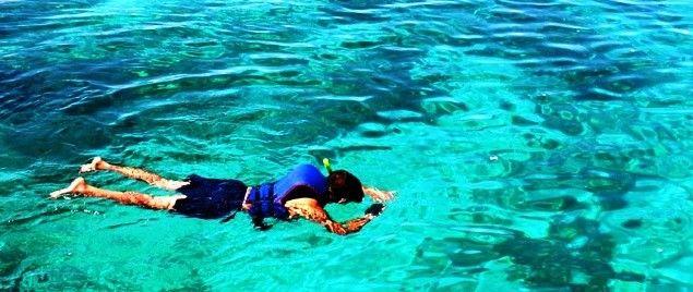 Haciendo Snorkel en las playas de Nerja