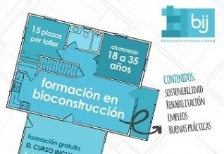 Curso gratis en bioconstrucción para jóvenes en Nerja