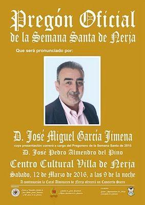 Cartel del Pregón Oficial de la Semana Santa de Nerja de 2016