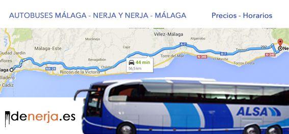 Autobuses Malaga Nerja y Nerja Malaga