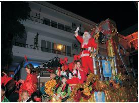 Cabalgata de Papa Noel en Nerja