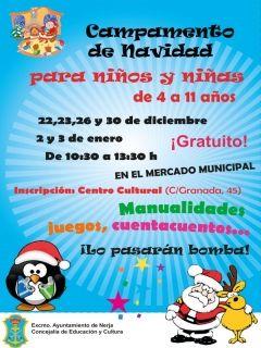 Campamento de Navidad gratuito para niños y niñas en Nerja