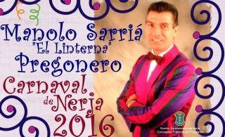 Manolo Sarria Pregonero del Carnaval de Nerja 2016