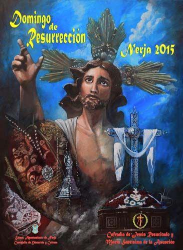 Cartel de la Cofradía de Jesús Resucitado y María Santísima de la Asunción