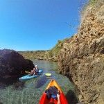 Ruta en kayak por la playa de Maro