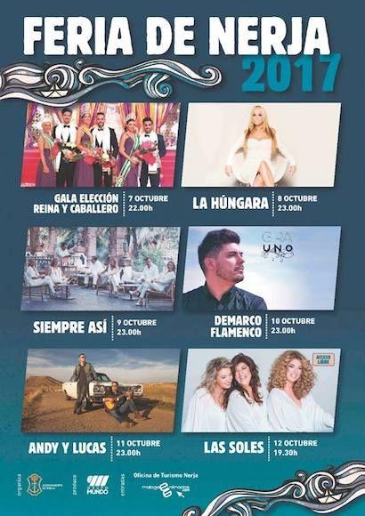 Programa de la Feria de Nerja 2017